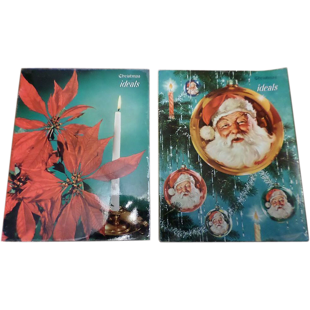 1950's Christmas Ideals with George Hinke Santa Cover