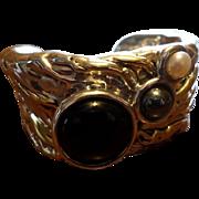 Designer Sterling Israeli Cuff Bracelet