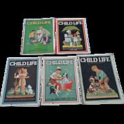 1930's June Child Life Magazines Set of Five