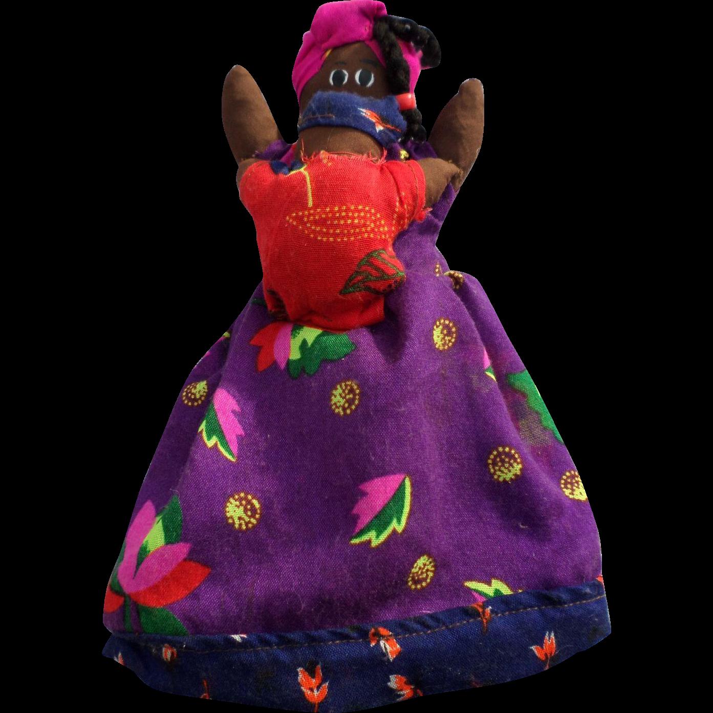 Handmade Black Americana Topsy Turvy Doll