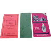 1931 Roseville Catalogoe With Price Guides Set