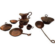 Copper Miniature Doll Houseware Set