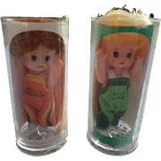 1970's Molly Orange and Lilly Lime Soda Pop Doll Set