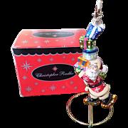 Retired Christopher Radko Santa Ornament