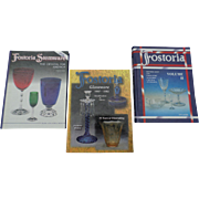 Fostoria Glassware Hardcover Price Guide Set of Three Books