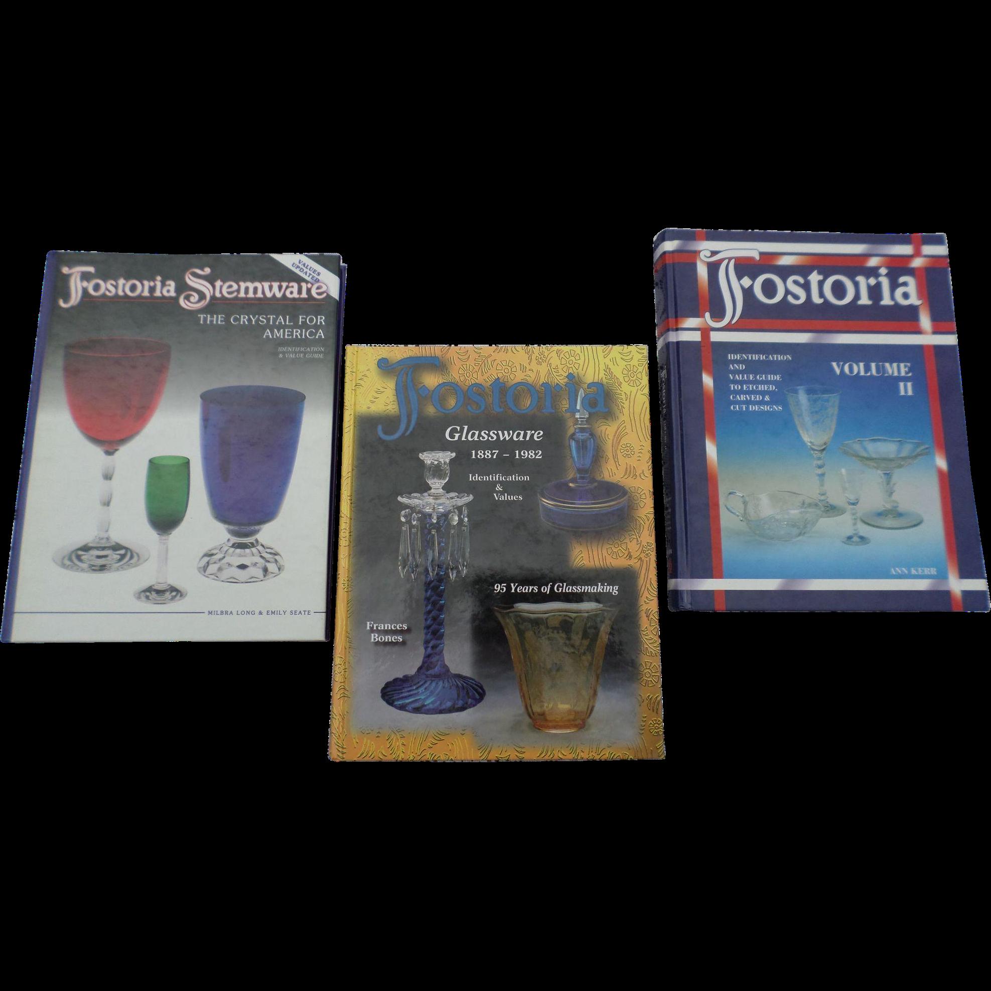 Fostoria Glassware Hardcover Price Guide Set of Three Books