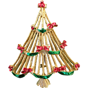 1960's Christmas Garland Tree Pin Book Piece