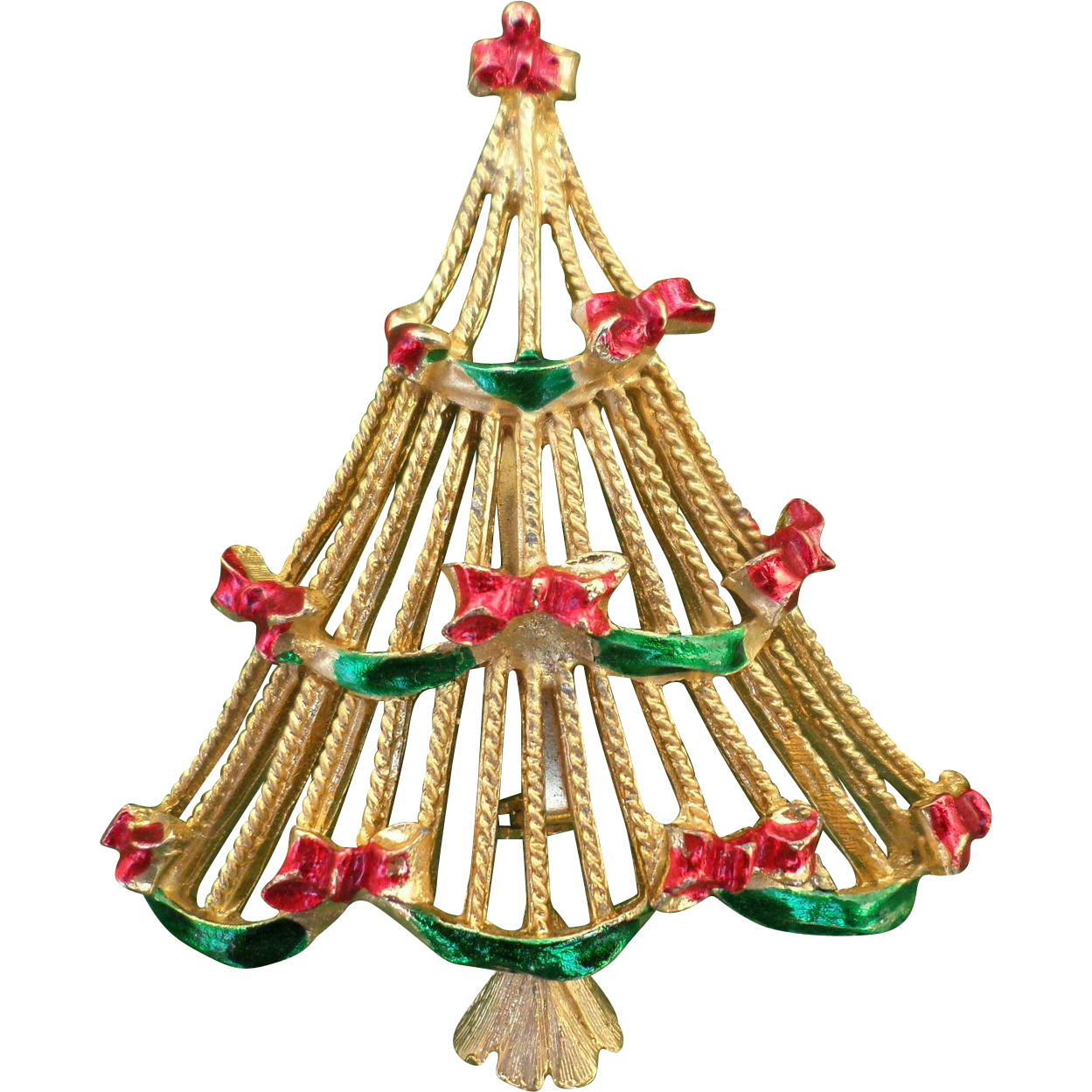 1960's Christmas Garland Tree Pin Book Piece from ...