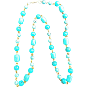 Howlite Turquoise Necklace