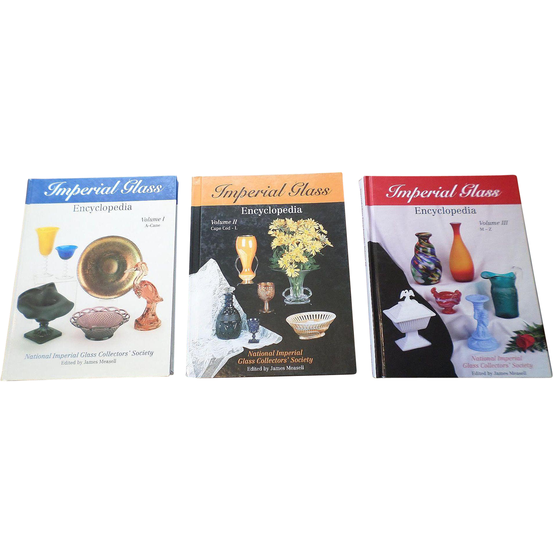 Hardcover Imperial Glass Encyclopedia Price Guide Set