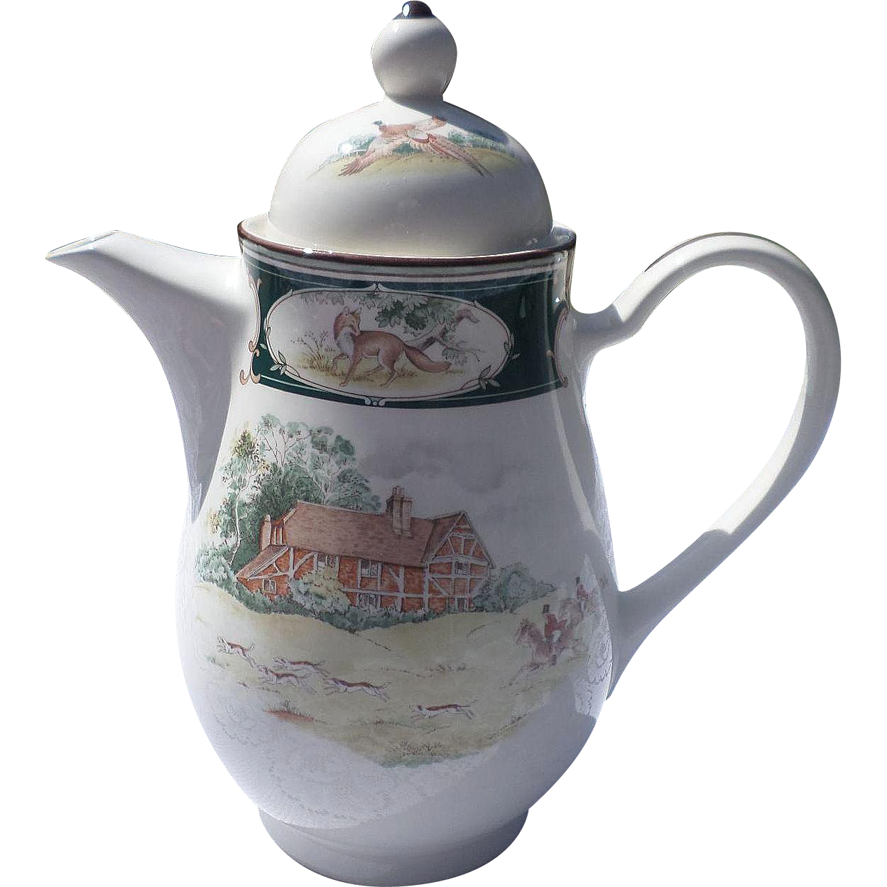 Rare Noritake Keltcraft Ireland 9170 Pursuit Coffee Tea Server
