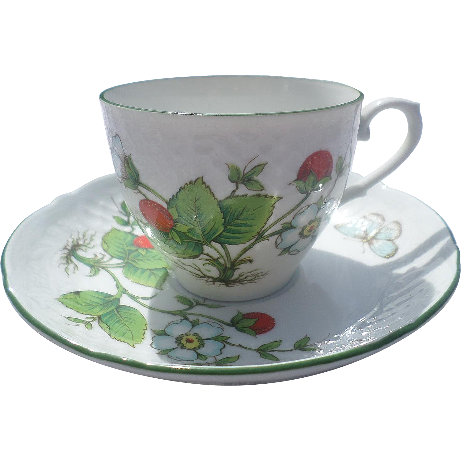bavaria schumann arzberg germany porcelain strawberry cup and saucer from. Black Bedroom Furniture Sets. Home Design Ideas