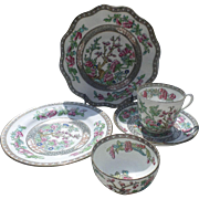 England Coalport Indian Tree Porcelain Set