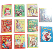 Miniature 1940's Children Lolly Pop Eleven Book Set