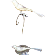 Christmas Glass Bird Clip On Ornament Set
