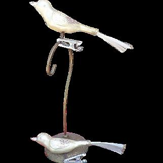 Christmas Glass Bird Clip On Ornament Set