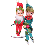 Unique Christmas Knee Hugger Elf Set
