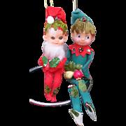 Unique Christmas Knee Hugger Elf Set