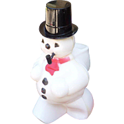 Plastic Snowman Candy Container