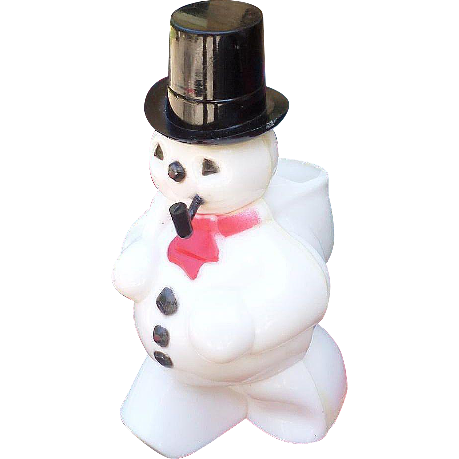 Plastic snowman candy container from for Plastic snowman