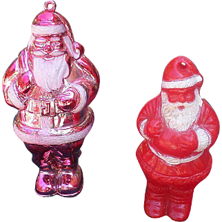Plastic Santa Candy Container Set
