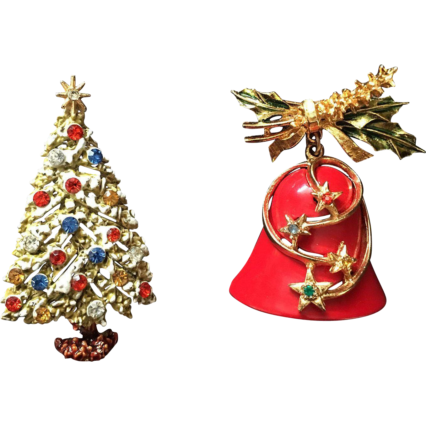 Signed Art Christmas Pin Set