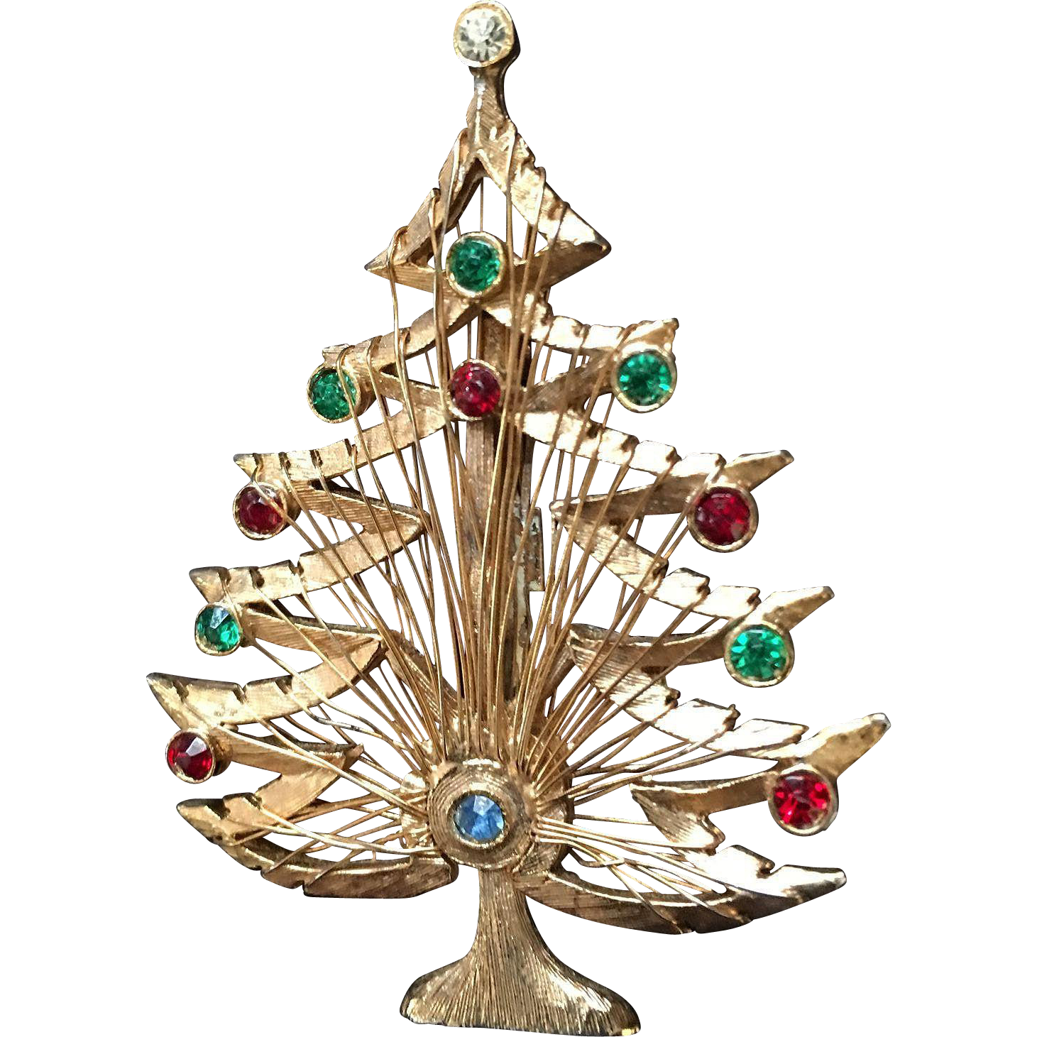 Brooks and LJM Christmas Wire Wrapped Tree Pins