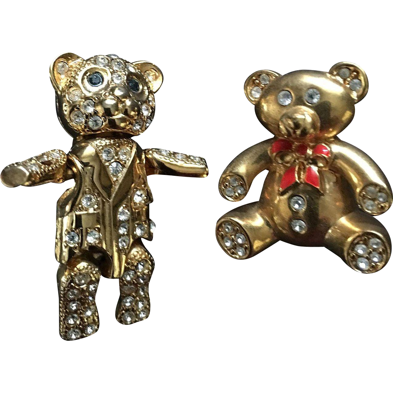 Danecraft and Monet Teddy Bear Pin Set