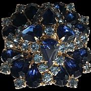 Designer Blue Rhinestone Pin/Pendant