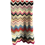 Wool Chevron Lap Blanket
