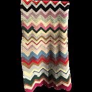 Wool Chevron Lap Blanket