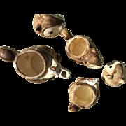 1979 Enesco Ceramic Squirrel Teapot Creamer Sugar Set