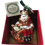 Waterford Crystal Holiday Heirlooms Santa Ornament