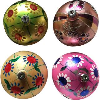 Hand Painted Glass Poland Christmas Ornaments