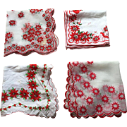 Christmas Poinsettia Hankies