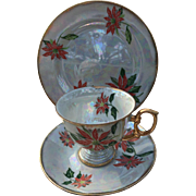 Ucago Japan December Poinsettia Cup and Saucer Set