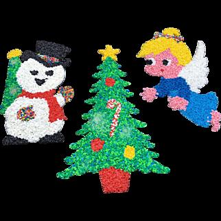 Vintage Melted Plastic Popcorn Christmas Decorations