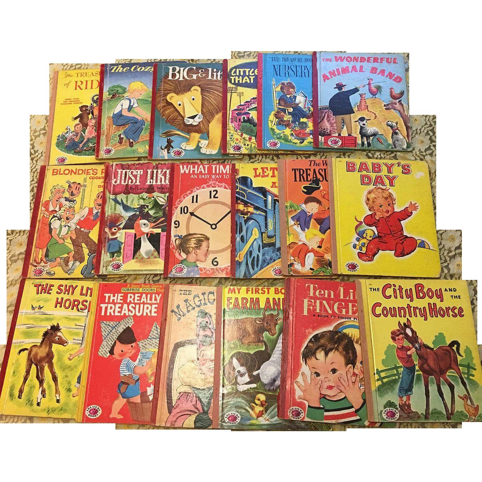 Vintage Treasure Books Children Picture Book Set