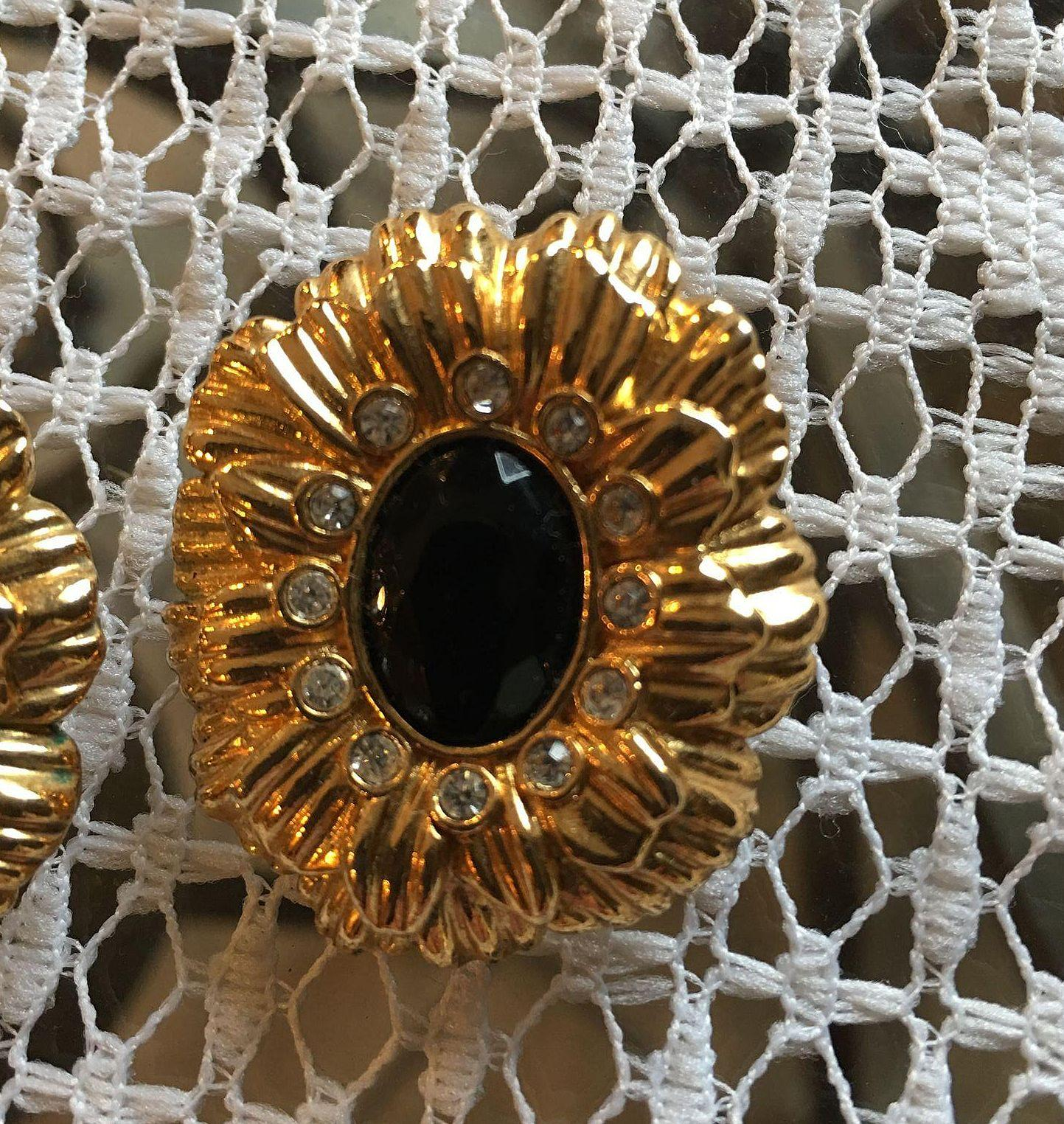 Kjl Avon Clip Earrings Book Piece From Cheriescollectibletreasures On