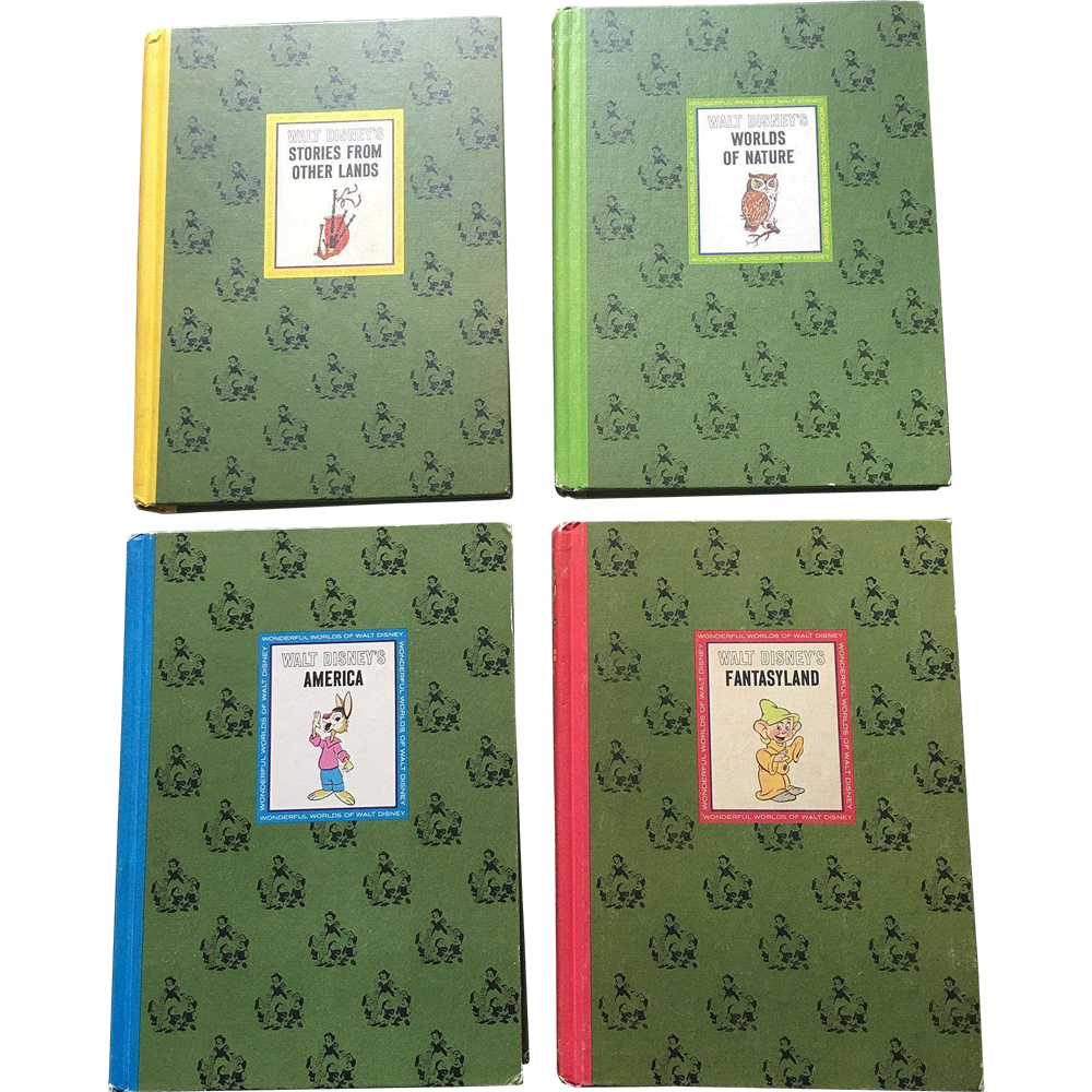 1965 Golden Press Walt Disney Book Set