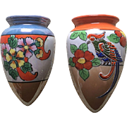 Lusterware Japan Wall Pocket Set
