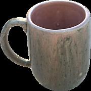 Unusual Handmade Pink Ceramic Frog Mug