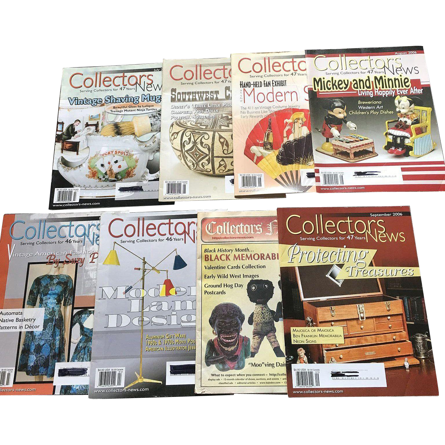 Out of Print Collector News Magazine Set