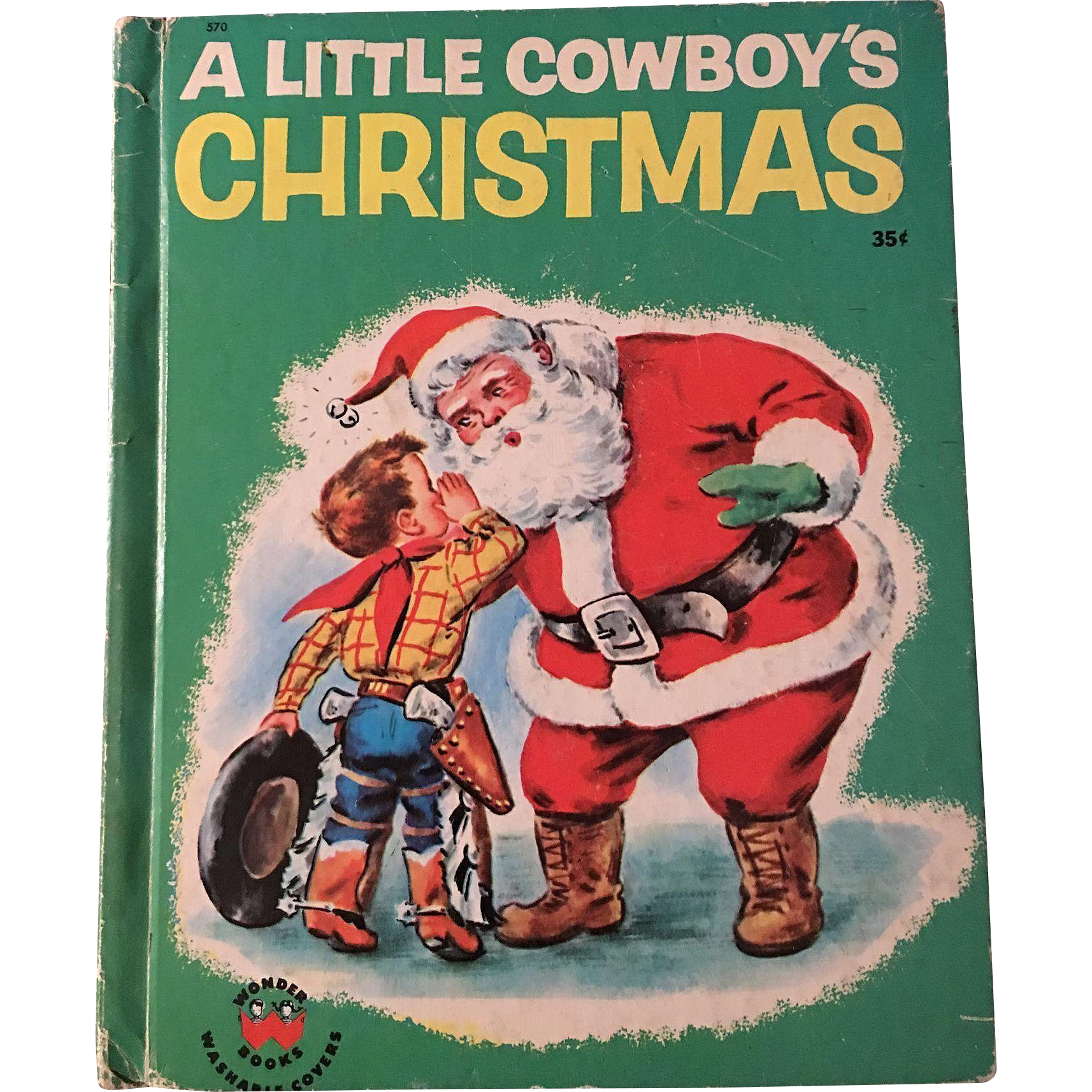 1951 A Little Cowboys Christmas Wonder Book