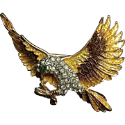 Spoontiques Art Enamel Rhinestone Eagle Pin