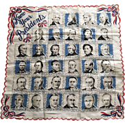 1954 Franshaw Know Your Presidents Hankie