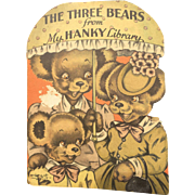 Rare The Hanky Library The Three Bears Hankie Book