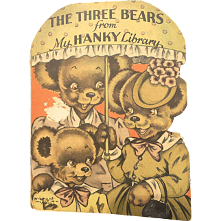 Rare The Hanky Library The Three Bears Hankie Book