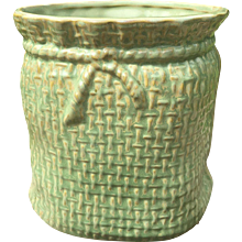 McCoy Pottery Green Jardiniere - Red Tag Sale Item