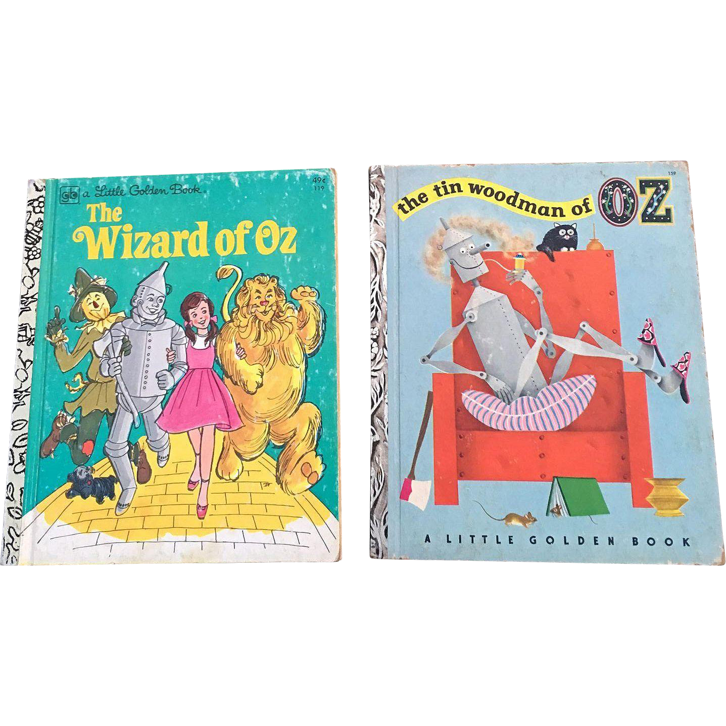 Little Golden Book Wizard Of Oz and The Tin Woodman Of Oz Set
